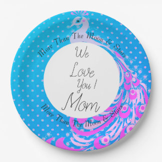 Peacock-Blue-Celebrations-Monogram-Template Paper Plate