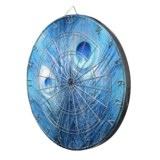 Peacock Blue Dartboard With Darts