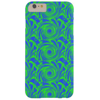Peacock blue green pattern barely there iPhone 6 plus case