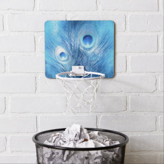Peacock Blue Mini Basketball Hoop