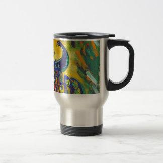 peacock blue travel mug