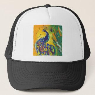 peacock blue trucker hat