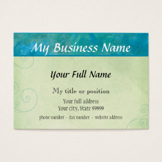 Peacock Blue, Two Sided Business Cards