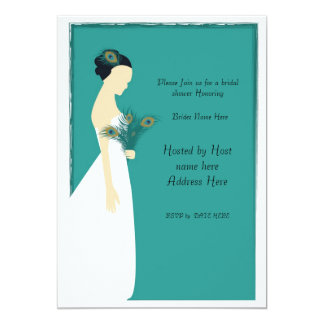 peacock_bridal_invite-01, Please Join us for a ... Card