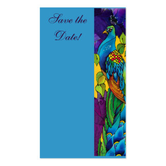 Peacock Business Profile Save the Date Card Business Card