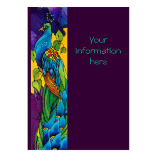 Peacock Business/Profile/Save the Date Card Business Card Template