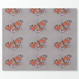 Peacock Butterfly Glossy Wrapping Paper