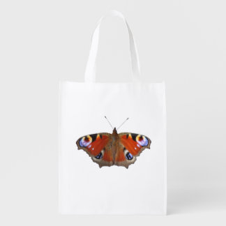 peacock butterfly grocery bag