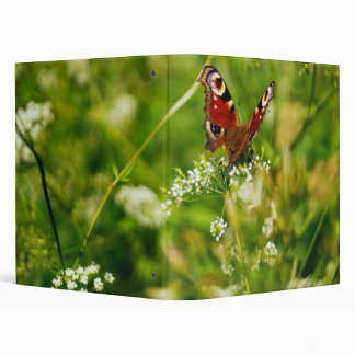 Peacock Butterfly In Green Summer Meadow Binder