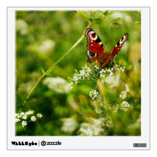 Peacock Butterfly In Green Summer Meadow Wall Decal