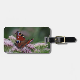 Peacock Butterfly Luggage Tag