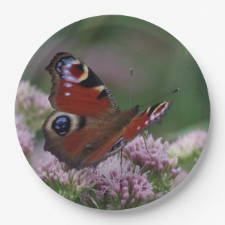 Peacock Butterfly Paper Plates