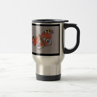Peacock Butterfly Travel Mug