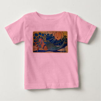 Peacock Chariot Baby T-Shirt