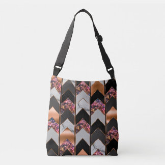 Peacock Chevron Tote Bag