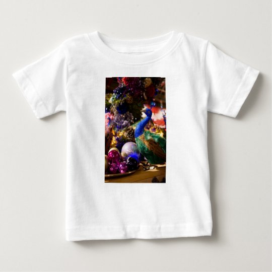 Peacock Christmas Design Baby T-Shirt