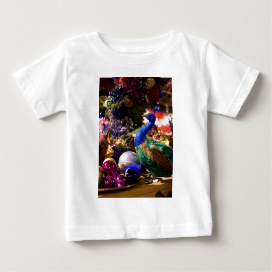 Peacock Christmas Design Baby T-Shirt