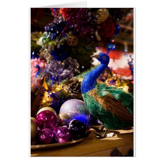Peacock Christmas Design Card
