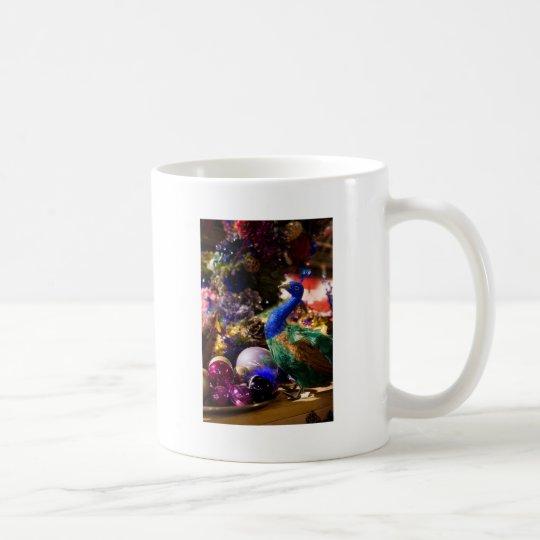 Peacock Christmas Design Coffee Mug