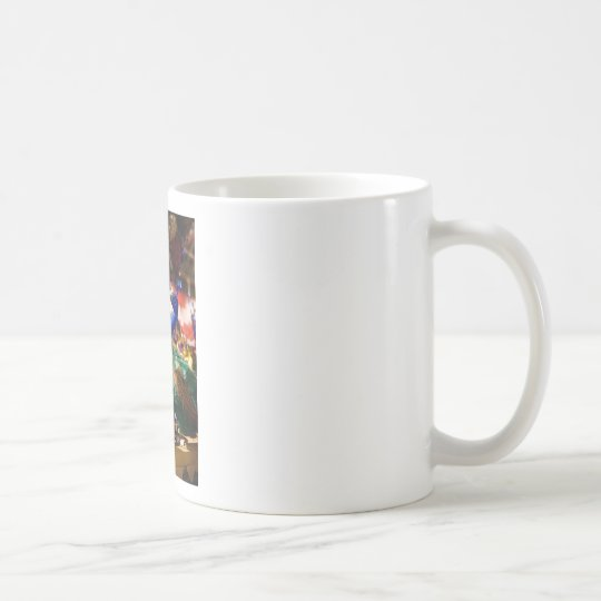 Peacock Christmas Design Coffee Mug
