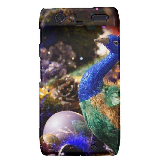Peacock Christmas Design Droid RAZR Covers