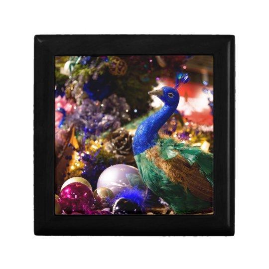 Peacock Christmas Design Gift Box