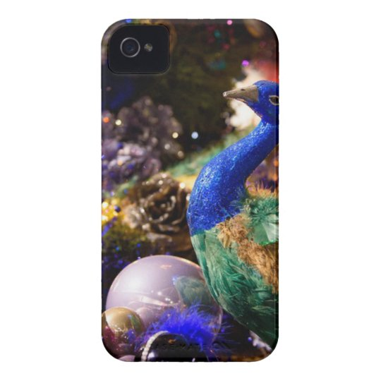 Peacock Christmas Design iPhone 4 Cases