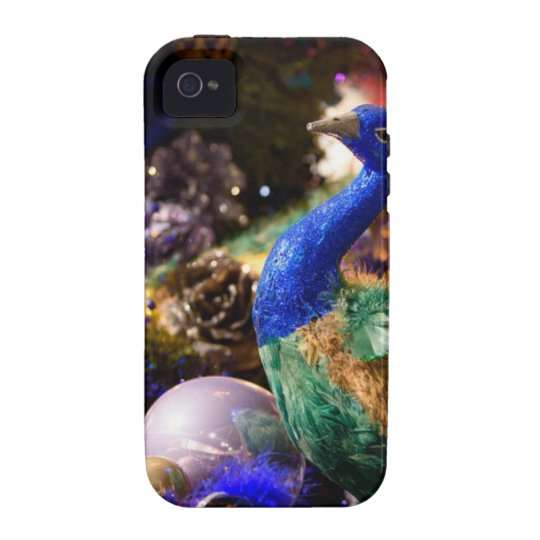 Peacock Christmas Design iPhone 4 Cover