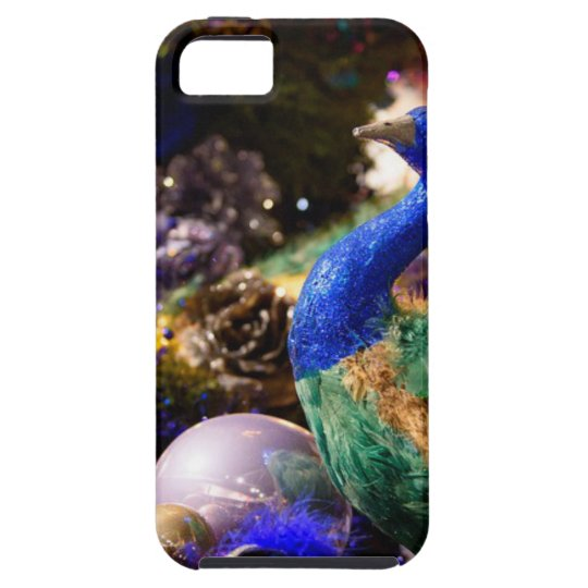 Peacock Christmas Design iPhone 5 Case