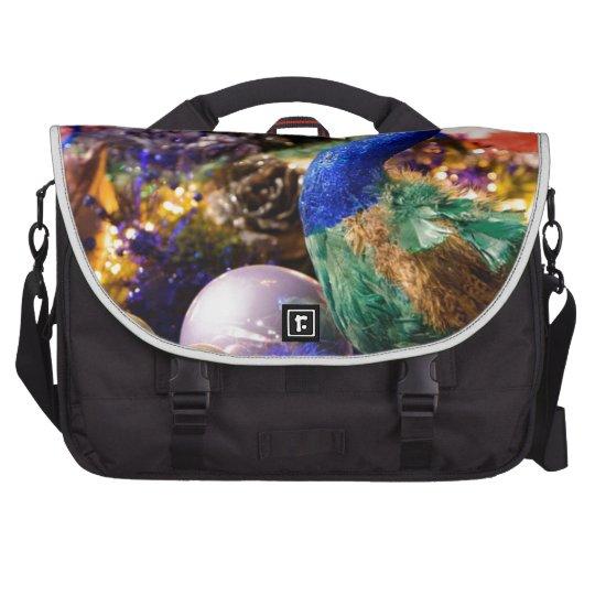 Peacock Christmas Design Laptop Shoulder Bag