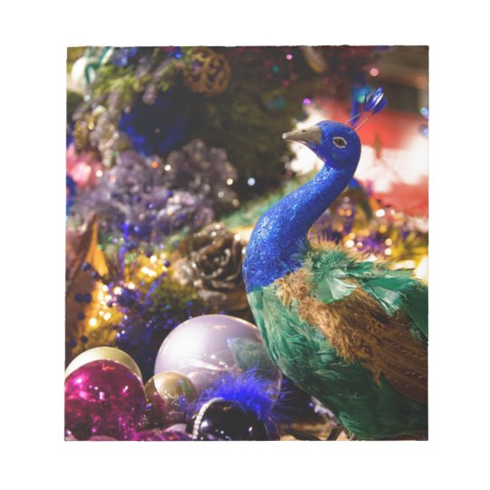 Peacock Christmas Design Notepad