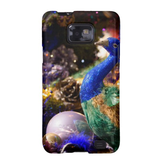 Peacock Christmas Design Samsung Galaxy S2 Covers