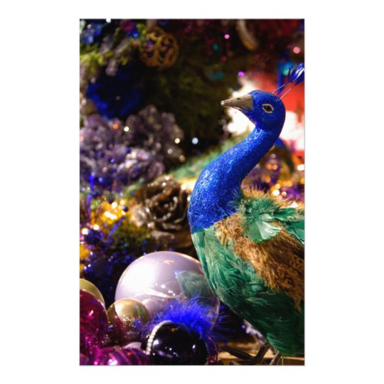 Peacock Christmas Design Stationery