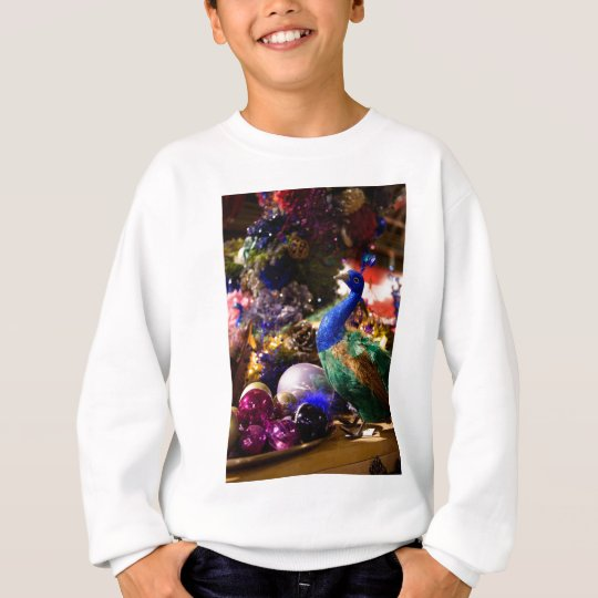 Peacock Christmas Design Sweatshirt