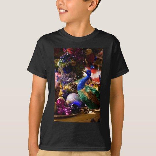 Peacock Christmas Design T-Shirt