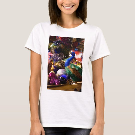 Peacock Christmas Design T-Shirt