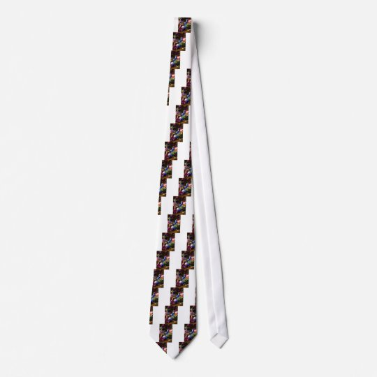Peacock Christmas Design Tie