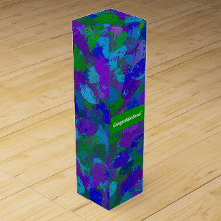 Peacock Color Splashes 4755 Wine Gift Box