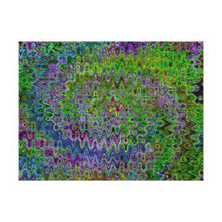 Peacock Colored Abstract Wall Art