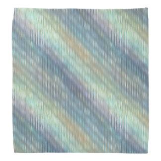 Peacock Colors Pale Stripes Bandanas