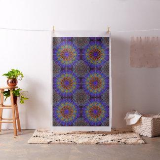 Peacock-colors romantic mandala ornament arabesque fabric