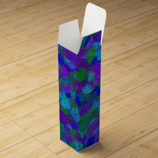Peacock Colors Splatters 4755 Wine Box