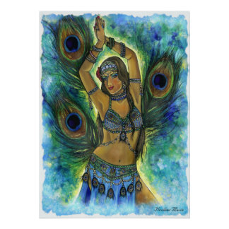 Peacock Dancer Poster