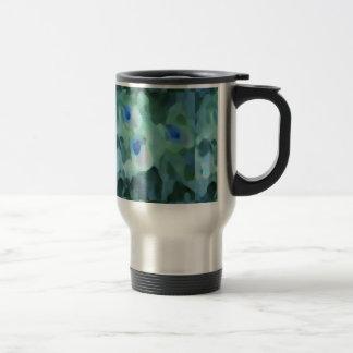 Peacock Design 15 Oz Stainless Steel Travel Mug