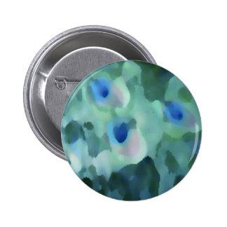 Peacock Design 2 Inch Round Button