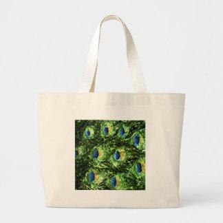 Peacock Design Tote Bags