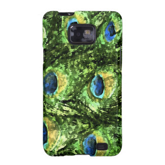 Peacock Design Samsung Galaxy SII Cases
