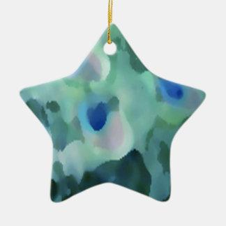 Peacock Design Ceramic Star Ornament
