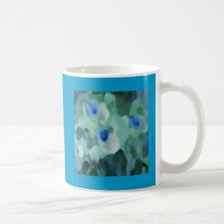 Peacock Design Classic White Coffee Mug