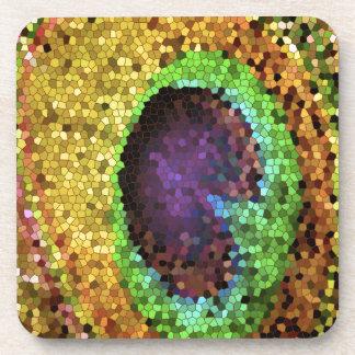 Peacock Design Beverage Coaster